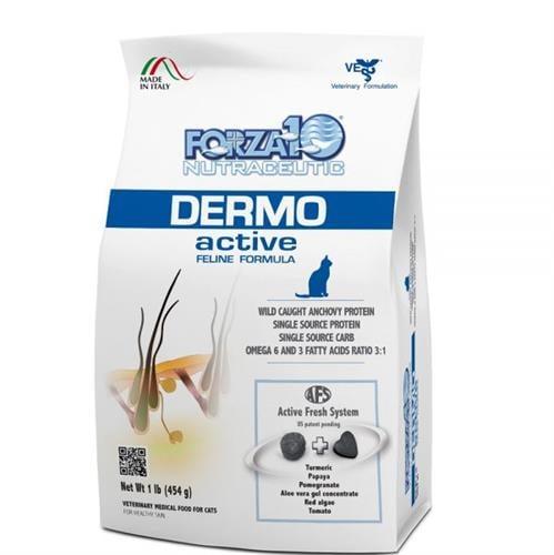"""מזון רפואי לחתולים פורזה אקטיב DERMO משקל 4.54 ק""""ג"""