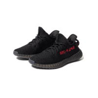 (Adidas Yeezy 350 Black Red (2020