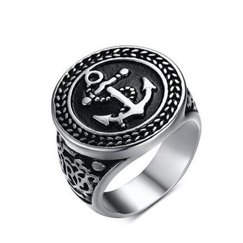 טבעת פלדה (Stainless steel) גברים נשים עוגן OP111600049-IN