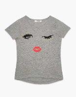 חולצה בנות טריקו מעוצבת KISS
