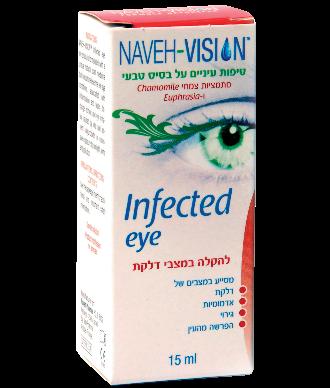 נווה טיפות עיניים להקלה במצבי דלקת Infected Eye Naveh Vision