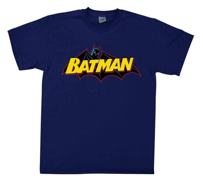 לוגו באטמן קומיקס - כחול נייבי