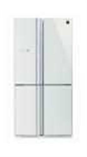מקרר 4 דלתות בנפח 615 ליטר Sharp זכוכית לבנה SJ-R8802