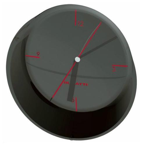 שעון קיר GLAMOUR שחור