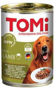 טומי שימורים לכלב בטעם כבש 400 גרם - TOMY SUPER PREMIUM DOG FOOD WITH LAMB 400G
