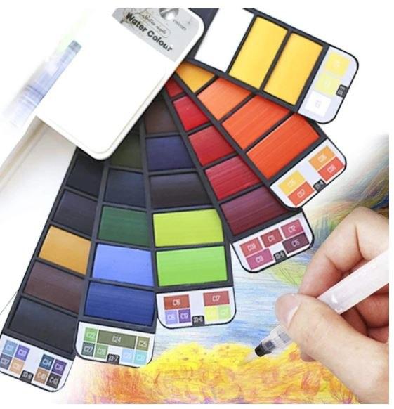 ערכת צבעי מים ניידת