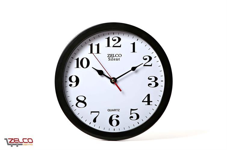 שעון קיר עגול שחור