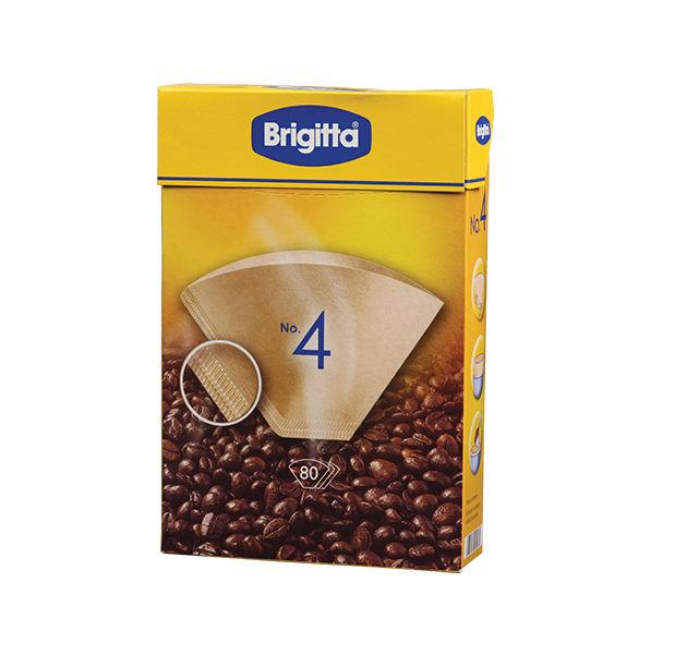 80 פילטרים מנייר ברגיטה ל-4 כוסות