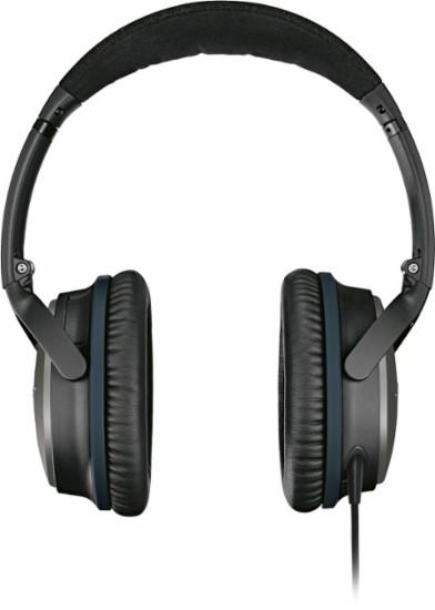 אוזניות סטריאו BOSE דגם QuietComfort 25, בעלות מנגנון סינון רעשים אקטיבי