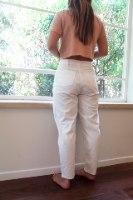 מכנס כותנה קלאסי לבן