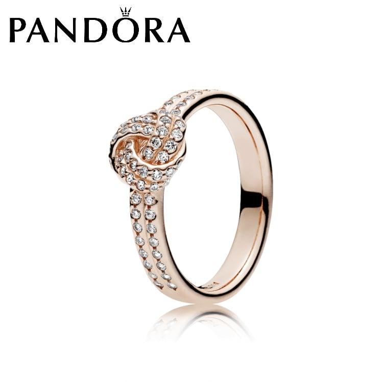 טבעת PANDORA רוז קשר אהבה מנצנץ