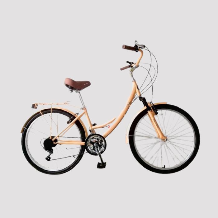 אופני נשים לעיר עם הילוכים במגוון צבעים