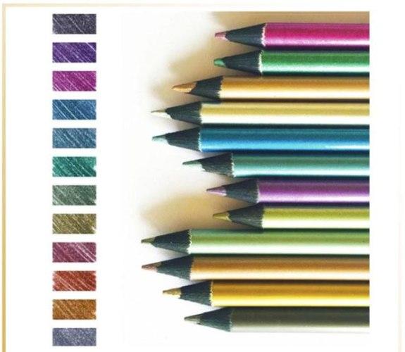 סט 12 עפרונות יצירה זוהרים