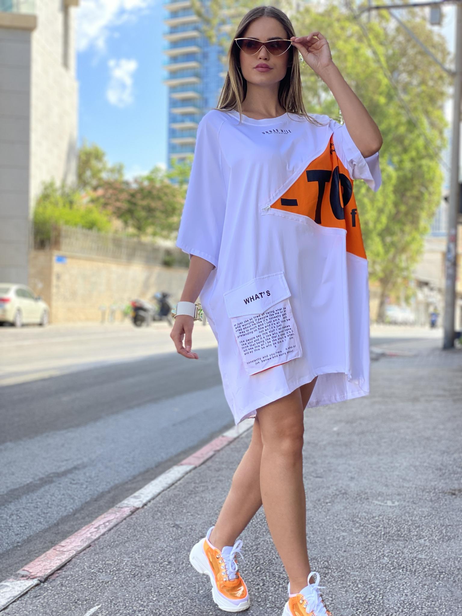 שמלת מיקה רוכסן