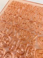 SUNSET ALPHABET LETTERS AND NUMBERS MOLD | 1.3 cm HIGH MOULD SET | EASY DECORATING