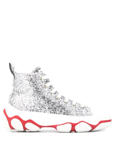 RED VALENTINO high-top glitter sneakers