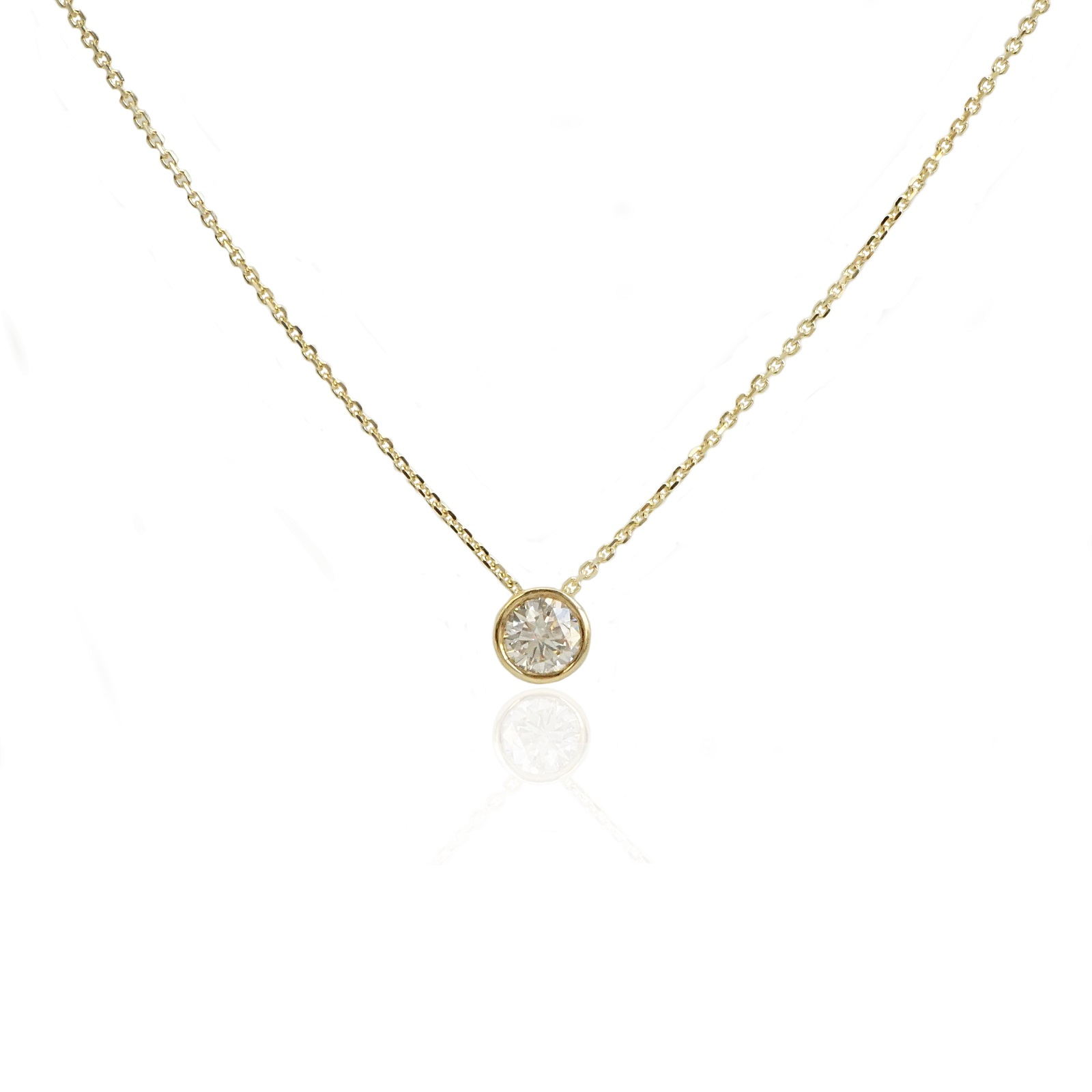 שרשרת יהלום | תליון יהלום  דגם באזל 0.25 קראט