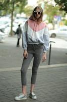 ג'ינס סקיני שפשופים אפור