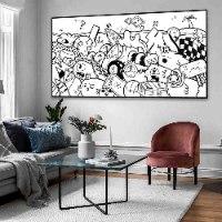 ציור פופ ארט מקורי לסלון של האמן כפיר תג'ר