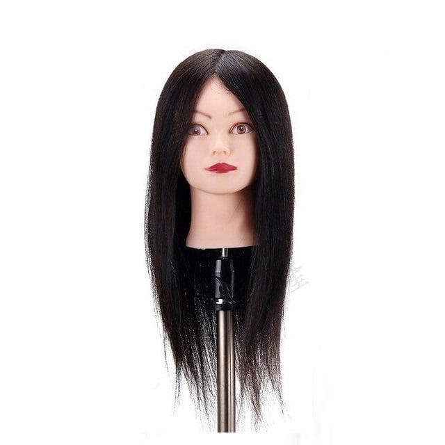 שיער - ראש בובה מדורג ארוך 100% שיער טבעי