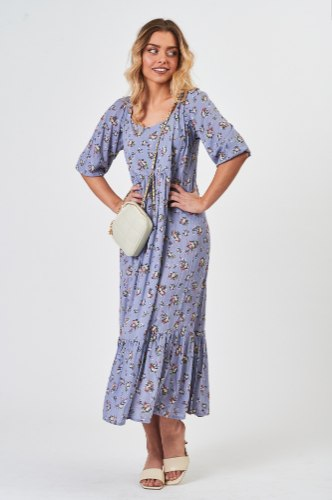 שמלת וולן מיה סגול
