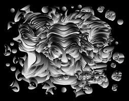 ממורי - מזכר אמנותי הדפס גראפי שם היצירה: קומבינשין 3