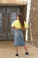 חצאית ג'ינס שוס וחגורה