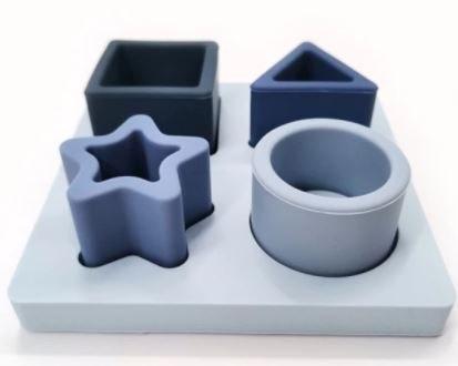 משחק התאמת צורות כחול