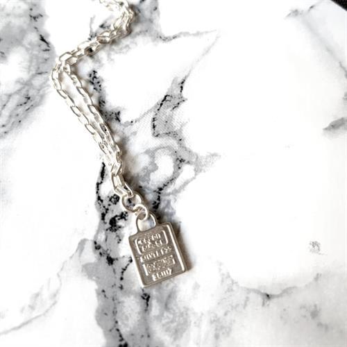 שרשרת ריי- מטבע מרובע קטנה
