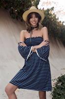 שמלת כיווץ - כחולה