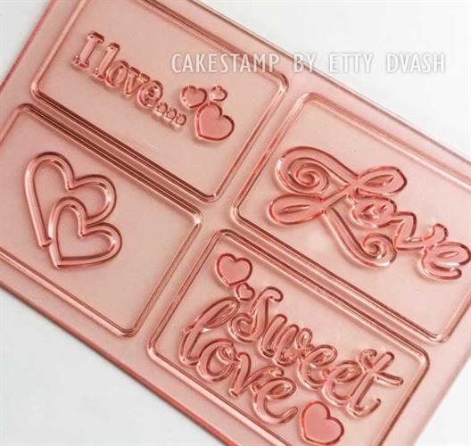 משטח סט תבניות אהבה - ליצירה בשוקולד