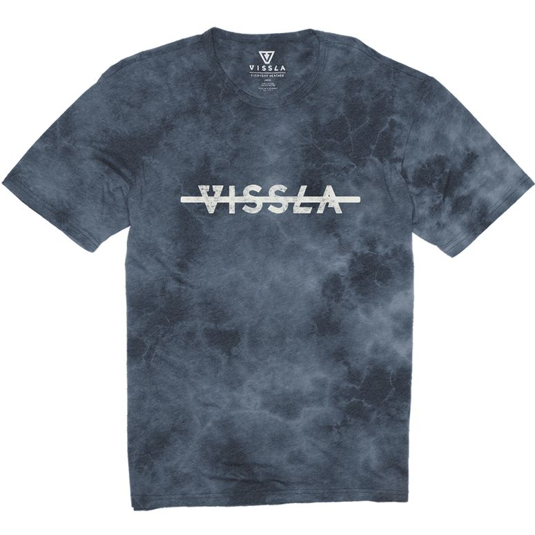 VISSLA Original Stoke Boys Tee - Strong Blue Heather