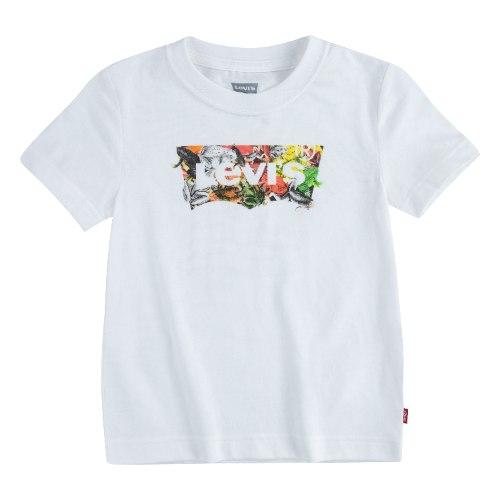 טי שירט לבנה LEVIS עם לוגו פרחוני - 1 עד 13 שנים