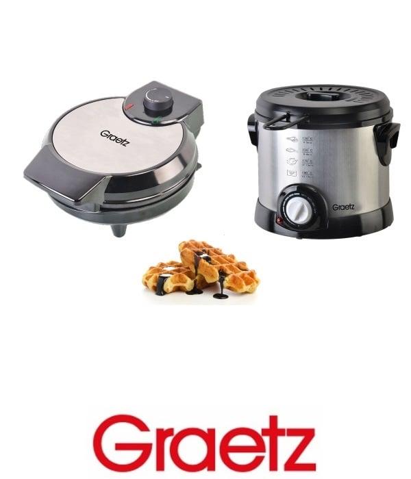 Graetz סט סיר טיגון + מכשיר להכנת וופל בלגי דגם GR-589