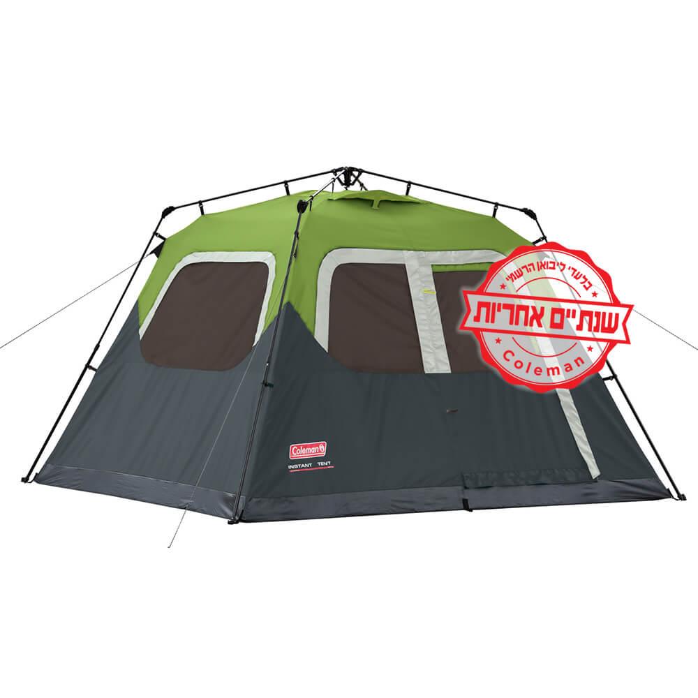 אוהל Coleman instant cabin 6 פתיחה מהירה, יבואן רשמי