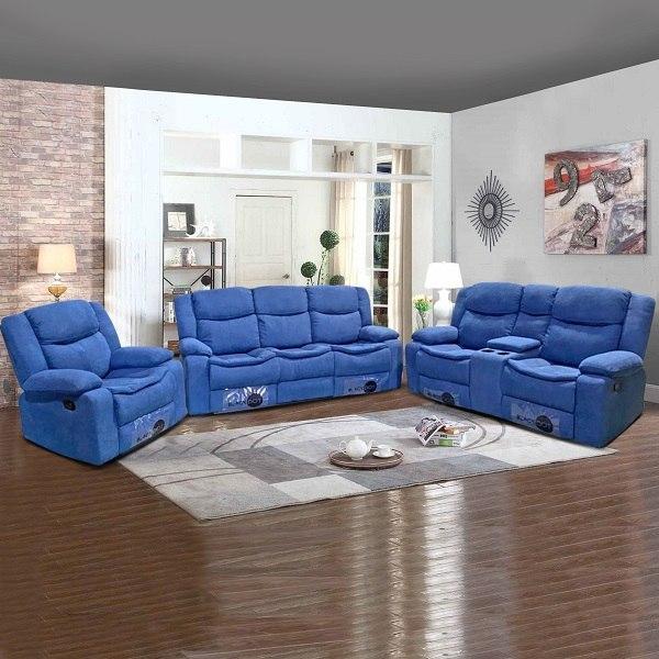 ספה 1+2+3 מושבים ג'ק מרלו ( בד כחול )