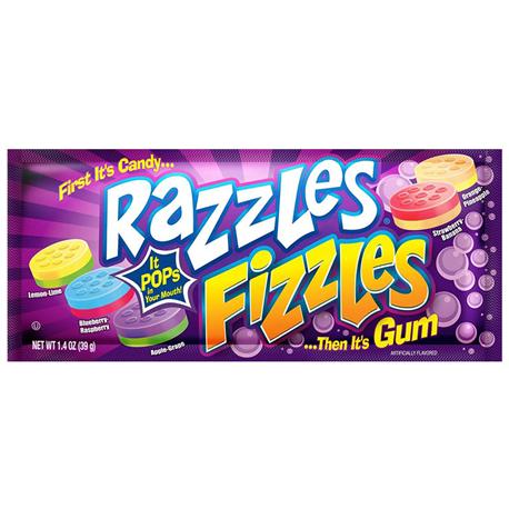 ראזלס- קודם סוכריה אח״כ מסטיק בטעמי פירות