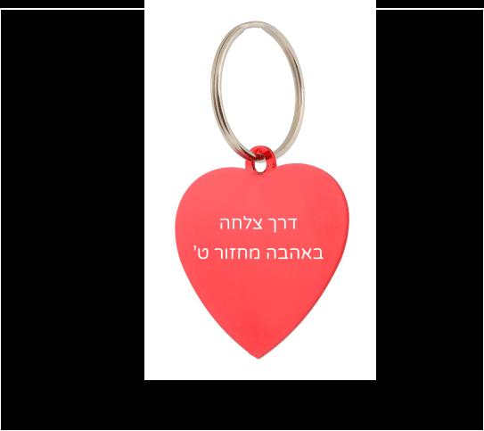 10 יח' דיסקית לב כולל חריטת לייזר
