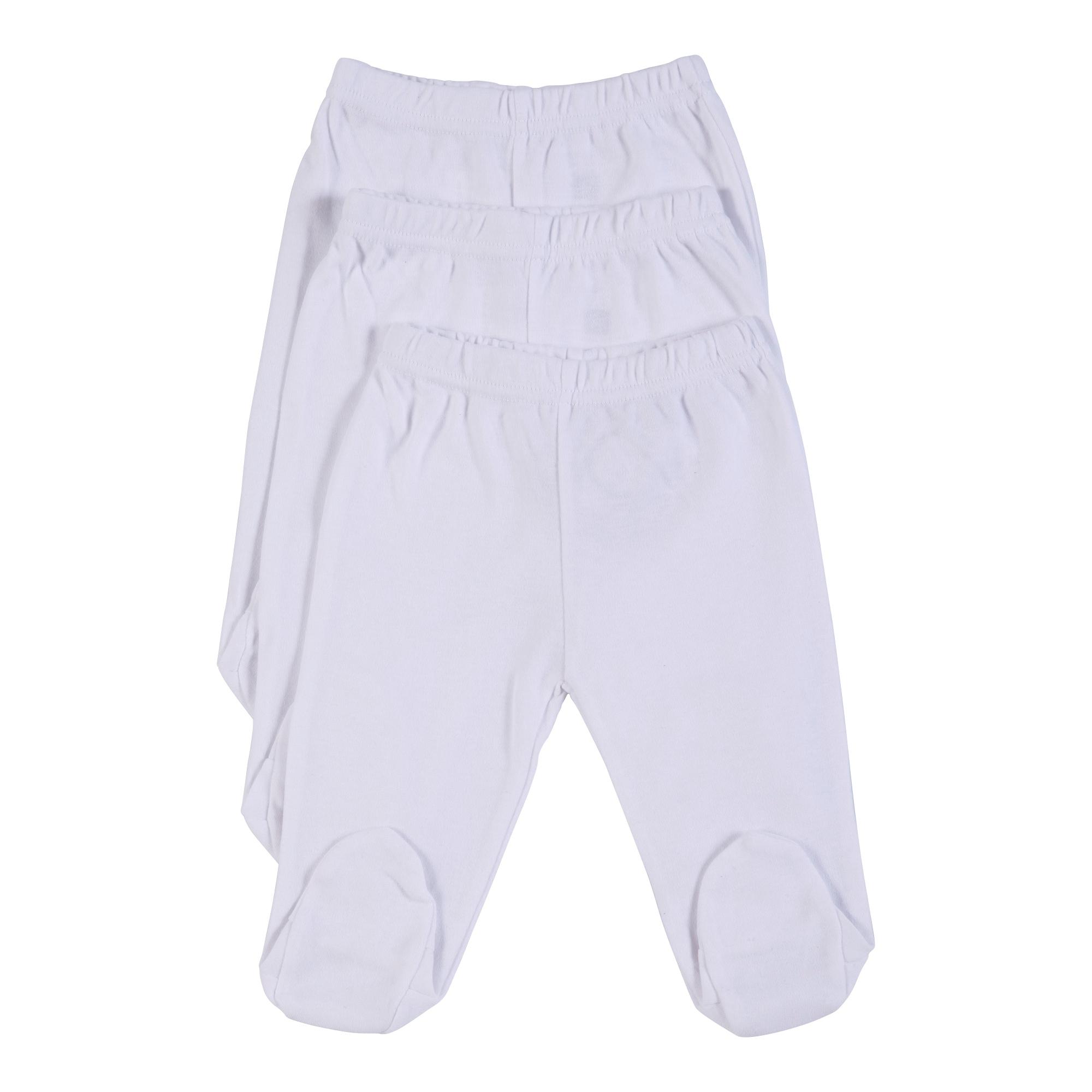 שלישיית מכנסי רגלית לבן B-004