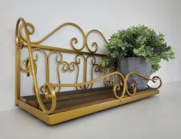 מדף מרשים - דגם פרזול צבע זהב - דוגמא