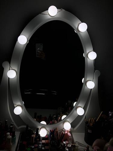10 מנורות LED למראת איפור