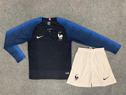 סט משחק חולצה ארוכה צרפת  18-19