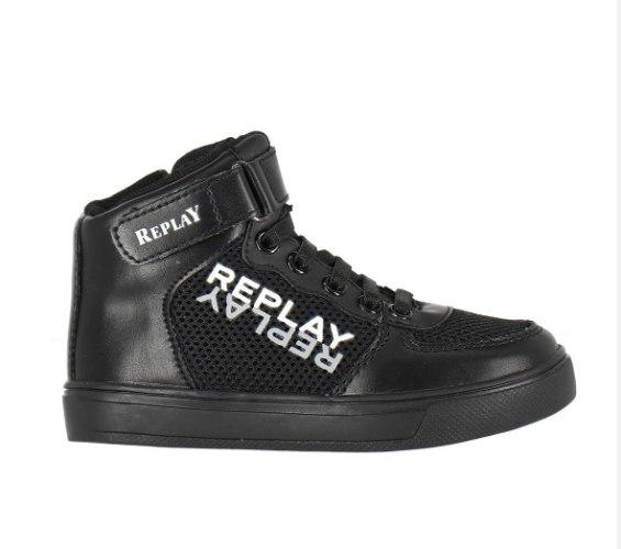 נעליים גבוהות שחורות REPLAY - מידות 21-35