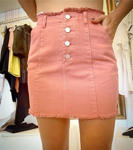 חצאית ג'ינס קנדי - ורודה