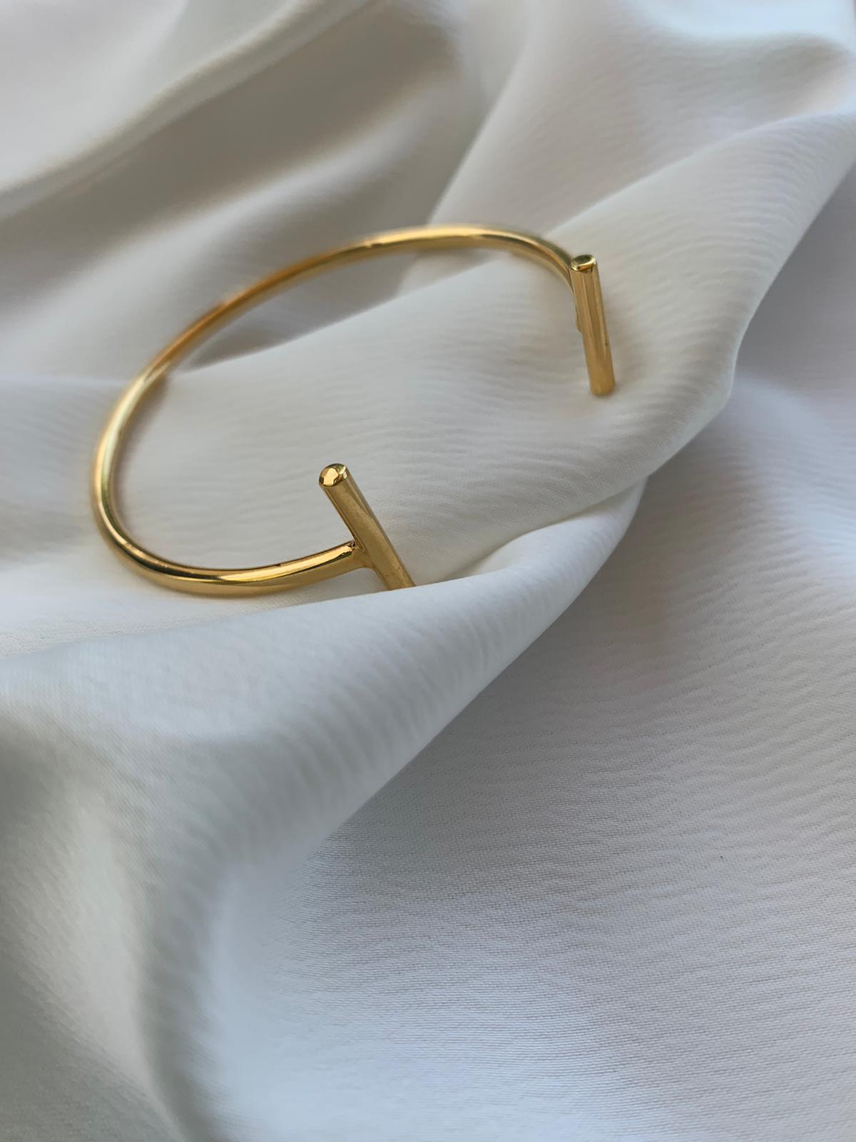צמיד פס זהב