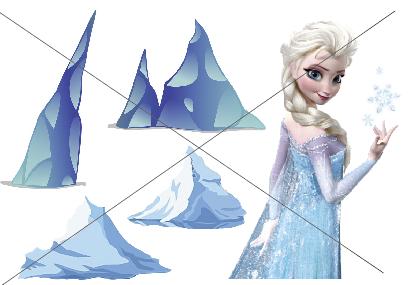 דף טרנספר - אלזה וקרחונים 1
