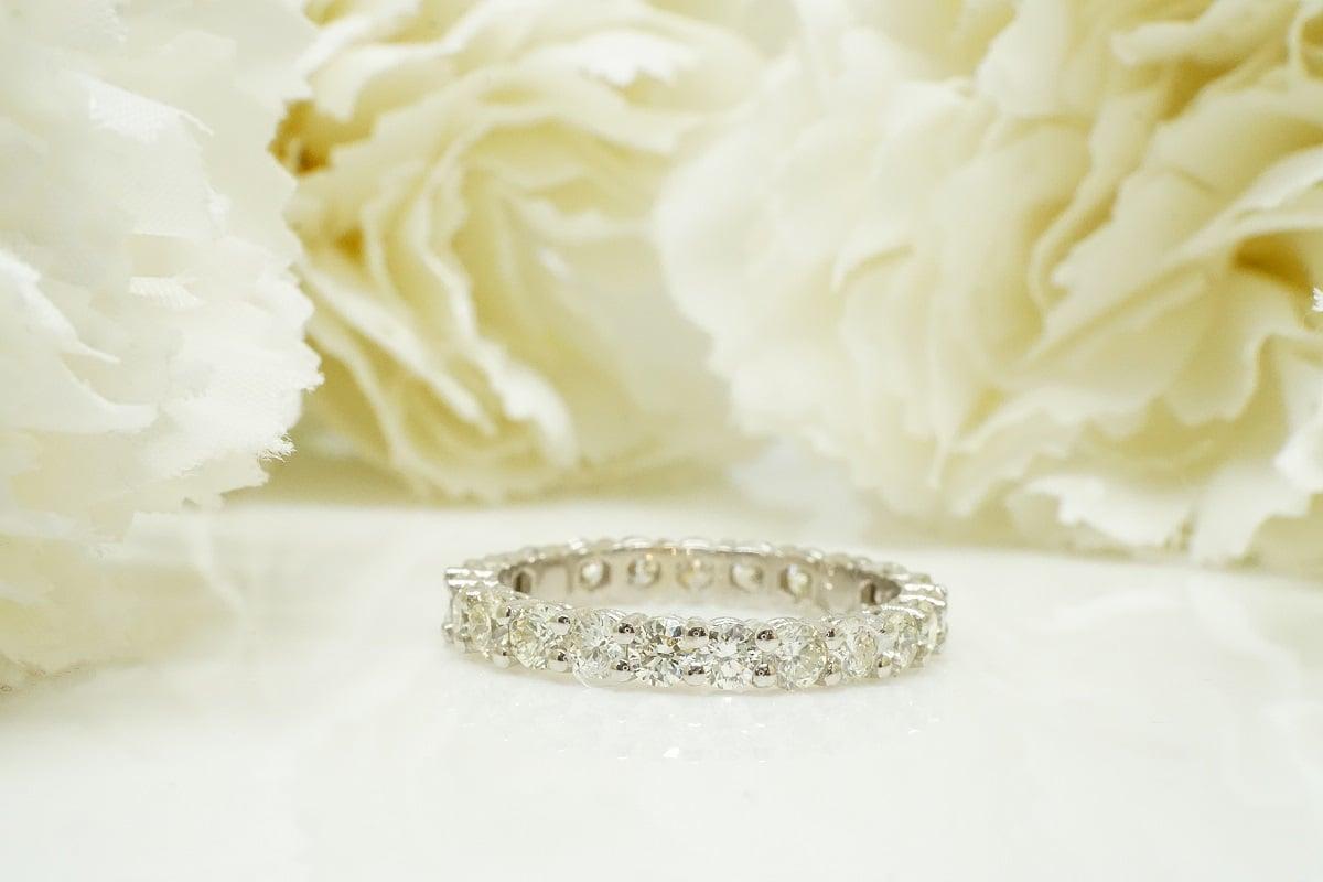 טבעת יהלומים 2 קראט טבעת איטרניטי