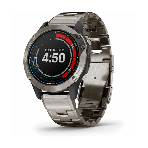 שעון דופק Garmin Quatix 6 Titanium Grey Sapphire with Titanium Band