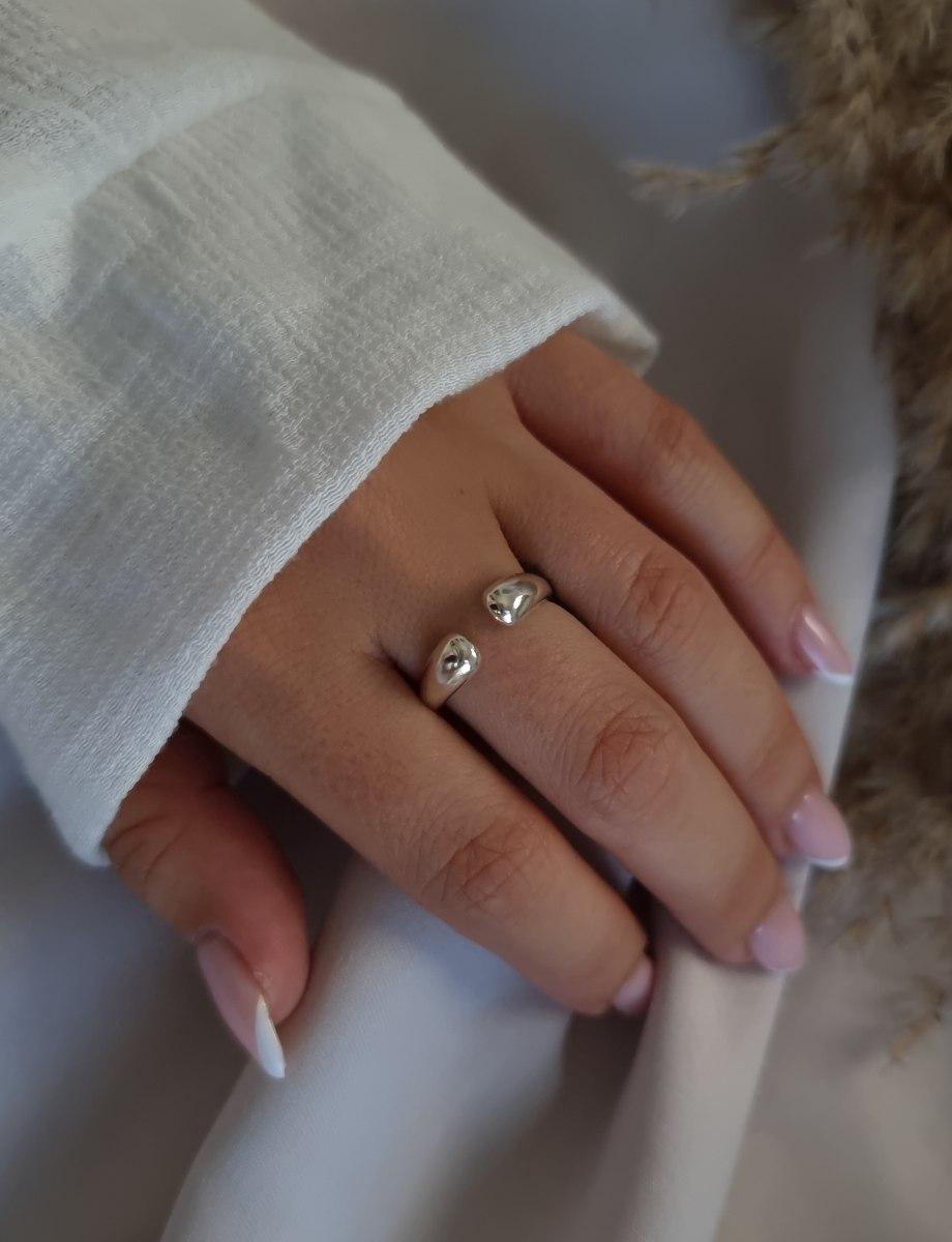 טבעת לילי כסף