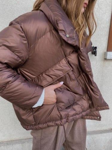 מעיל פופי חום